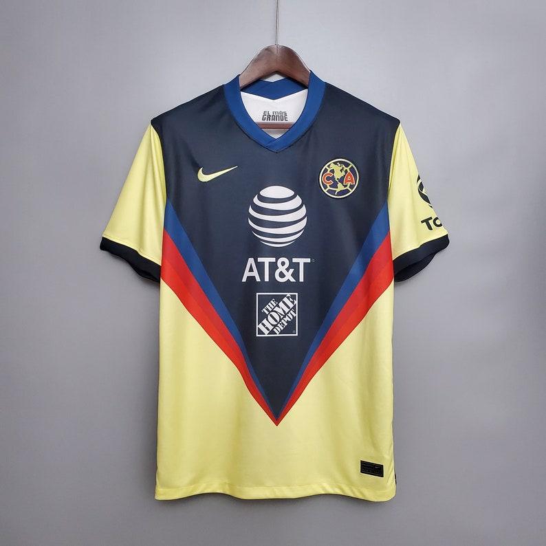 2020 Club America Home Away Soccer Jersey Football Shirt Mens Adult Free Customs Nameset