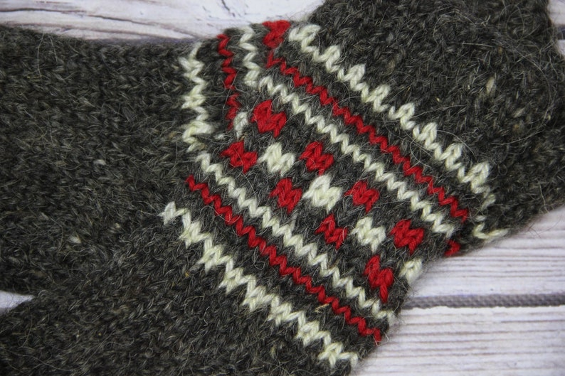 Eco Wool Organic Hand Knitted Socks Organic Eco Friendly Wool Slipper Socks Handmade Ethnic Natural Wool Socks