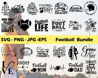 Football 25 SVG Bundle, Football Silhouette, Football Sayings SVG, Cricut file, Cut file, Printable file, Silhouette, Instant Download