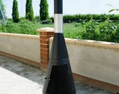 Large Contemporary Garden Chiminea | Steel | Fire Pit Bowl | Patio Fire Heater | Large | Outdoor | Gift Idea | 120cm
