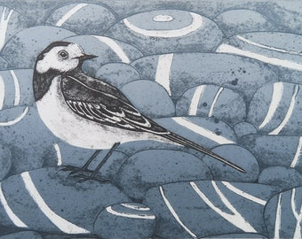 Pied Beauty, a limited edition collagraph print