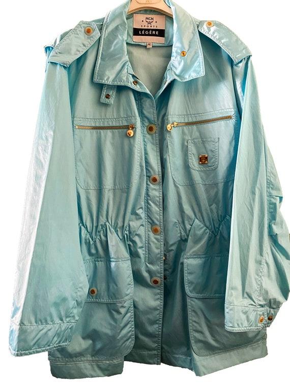 MCM Légère Vintage Light Blue Raincoat