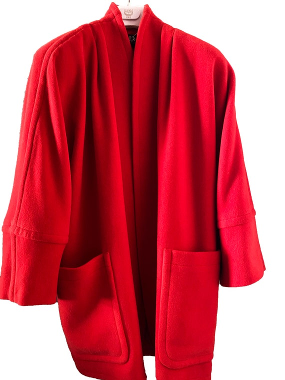 Escada Vintage Red Overcoat
