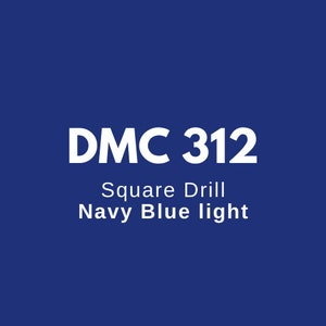 Round or Square Diamond Painting Resin Drills Beads DMC 809 Delft Blue Quantity 200 Loose Bulk