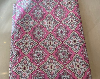 Cute pink printed polyester fabric