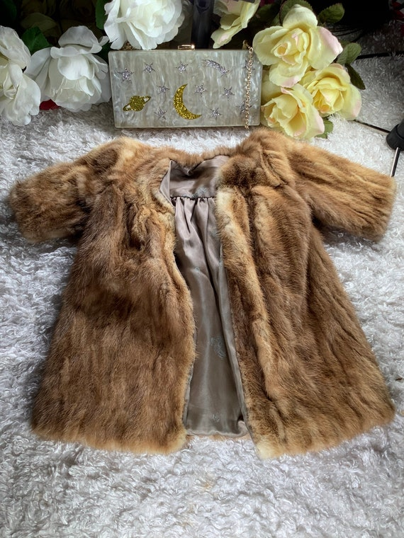 Vintage handmade children's mink fur coat