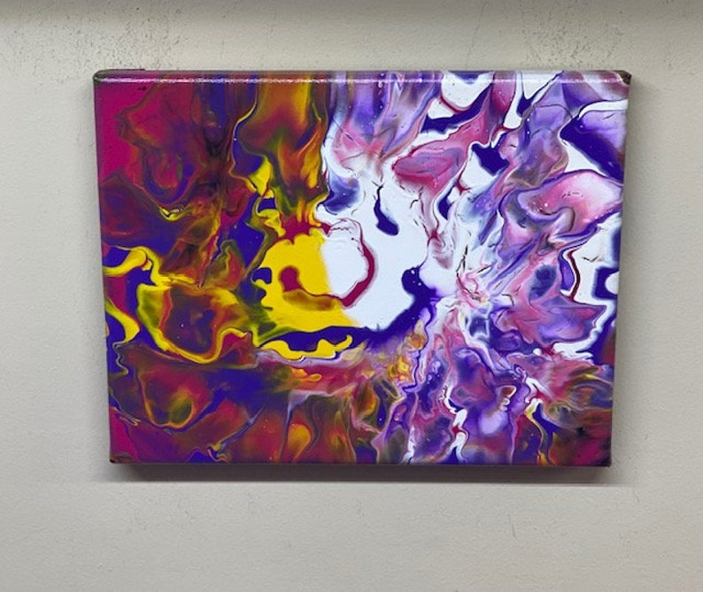 Acrylic Art 8x10 Wall Art Abstract Painting Acrylic Pour Painting