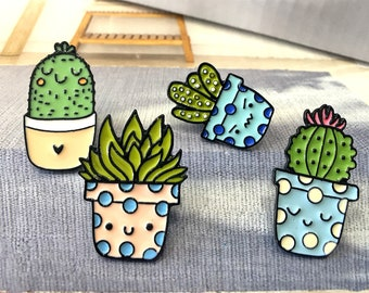 Cactus enamel Pin cute Brooch collar pastel hat Pin Badge kawaii hard enamel pin cute gifts pin display lapel pin funny hat pins for Jeans