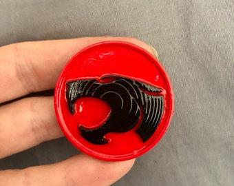 THUNDERCATS RETRO TV METAL PIN BADGE WITH 25mm LOGO