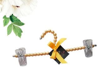 3  Gold Pearl Hanger| Greek Paraphernalia| HBCU| Divine Nine| Wedding| Bridal| Bachelorette| Bridesmaids| Gift Ideas| Closet Accessory