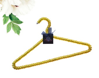 3  Gold Beaded Hanger| Sorority| Greek Paraphernalia| HBCU| Divine Nine| Wedding| Bride| Bridesmaid| Bachelorette Party| Gift Ideas