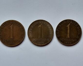 Austria 1995-1 Schilling Aluminum-Bronze Pre-Euro Coin Edelweiss flower