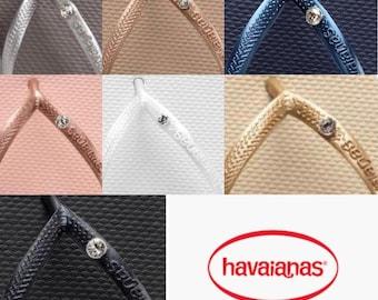 Original HAVAIANAS Slim Crystal Swarovski Flip Flops Women Summer 2021