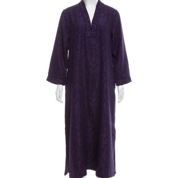 Oscar de la Renta Jacquard Purple Maxi Dress, NWT'