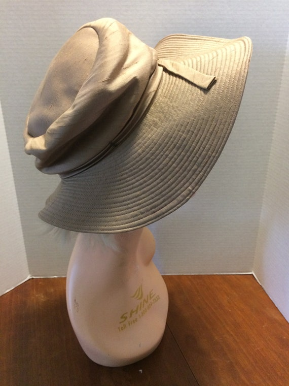 Vintage 1960s Mr John CLASSIC  Wide BRIM Straw Hat  from the BOARDWALK Empire Collection