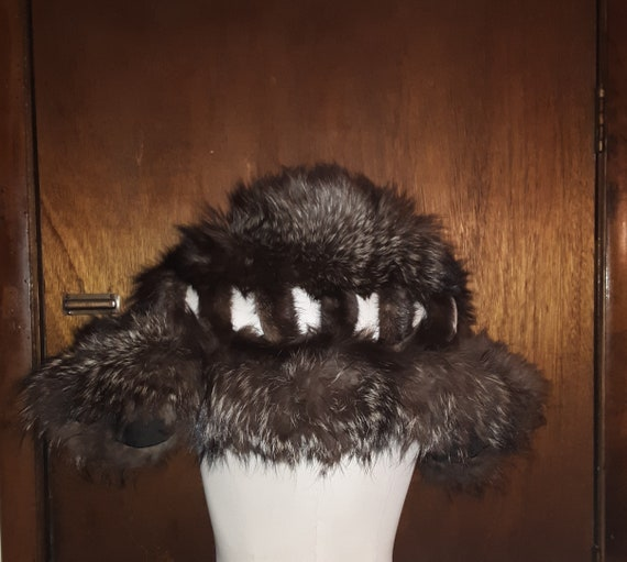 Custom Made 40's Silver Fox Fur Wrap/Stole By Jay-