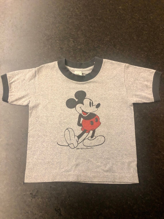 1980's Mickey Mouse kids ringer t-shirt, size 10-1