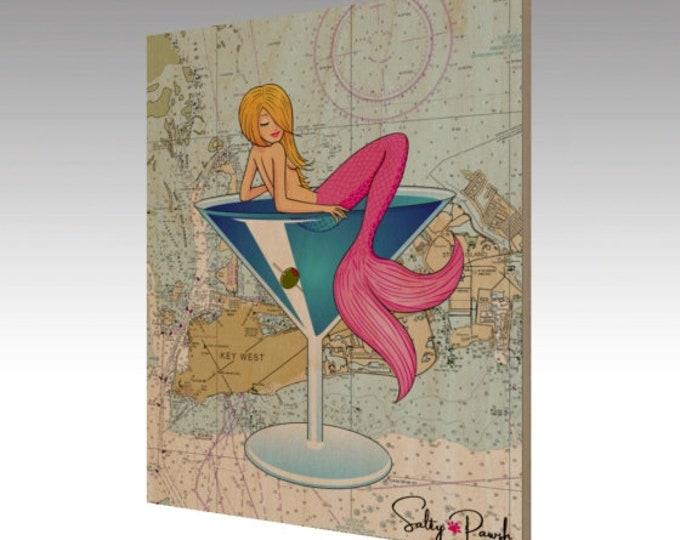 Key West Mermaid Nautical Chart