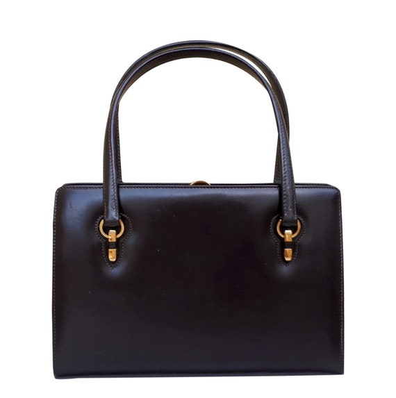 GUCCI Brown leather handbag Vintage 1960s / 1970s - image 5