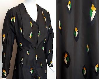 1930s Silk taffeta evening gown vintage