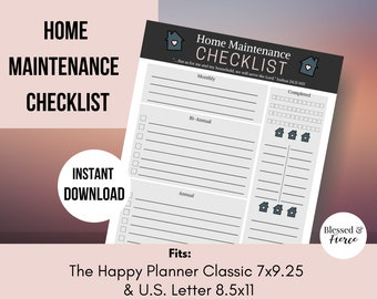 Home Maintenance Checklist with Scripture