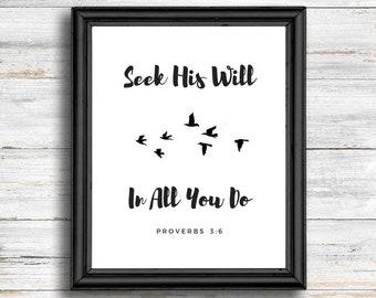 Proverbs 3:6 Scripture Wall Art