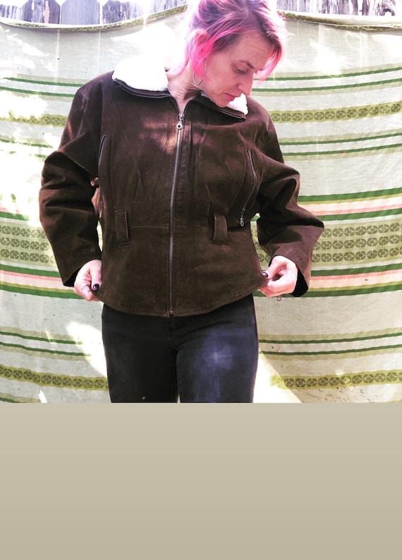 1990's Genuine Leather Bomber Jacket
