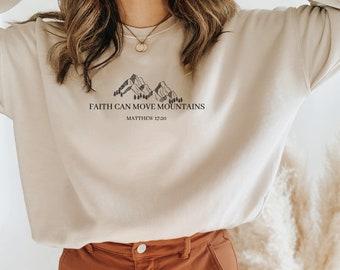 faith shirt spiritual shirt pullover, sweater women sweatshirt crewneck faith sweater