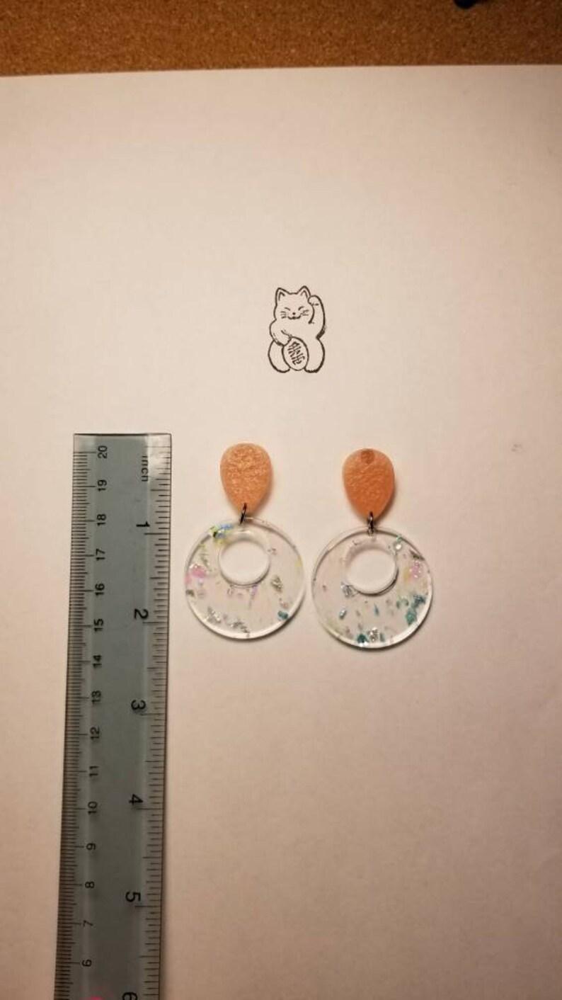 Funky retro earrings