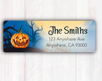 Halloween Jack O Lantern Address Labels - Personalized Address Labels - Halloween Return Address Labels - Return Address Labels Stickers