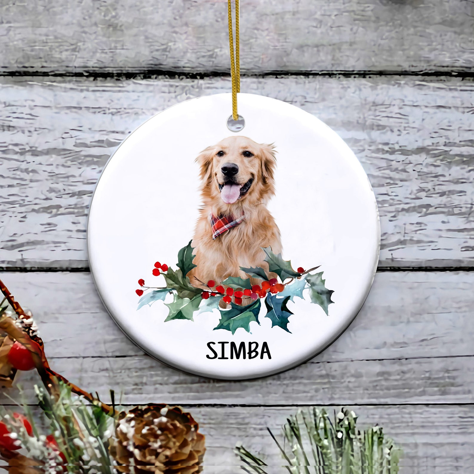 Pet Memorial Ornament with Photo