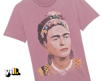 Beautiful Frida T Shirt. Stunning illustration of a female artist & icon of our time. Original gift for art lovers, pop culture fanatics.
