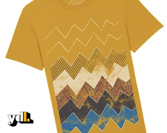 Zig Zag Pattern T-Shirt | Unisex Style | Zig Zag Print | Lined Print T-Shirt | Jagged Lines T-Shirt | Fashion Lovers Gift | Designers Gift