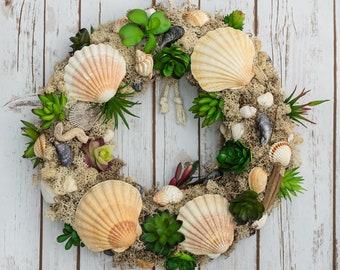Beachcomber Seashell Wreath