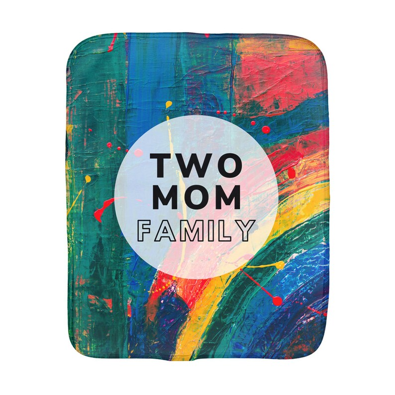 Baby Clean-Up LGBTQ+ Parents Two Mom Family Burp Cloth Lesbian Moms Gender Neutral Unisex I Love My Moms Lesbian Couple