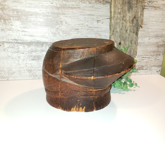 Millinery Hat Block Early 1900's, Antique Wooden p