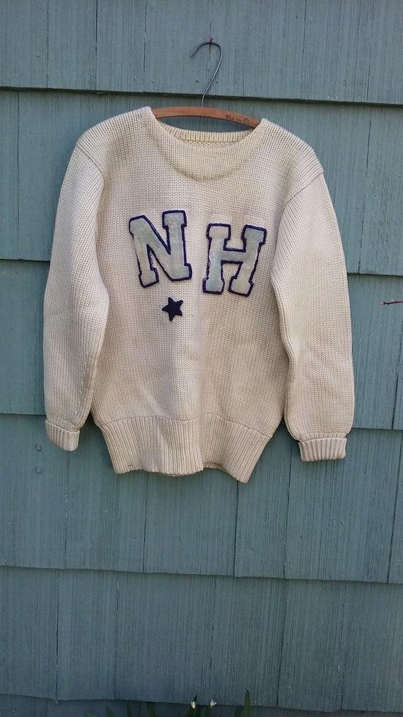 1930's Varsity Pullover Wool Letterman Sweater Vin