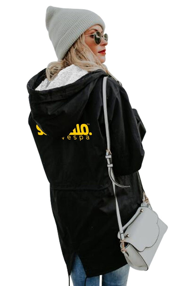 Ladies Windproof Zipped-Front Double-Layered Inner with Detachable Vest Jacket SO/'M YELLO Vespa Outdoor Edition