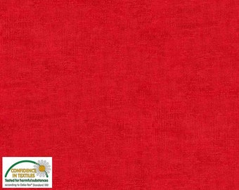 sold by Vellana Blue Fabrics Plain Melange 408 Cotton by stoffabrics 100/% Cotton Half Metre Red