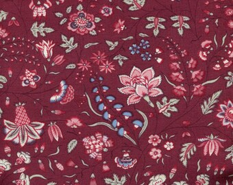 100/% Cotton Half Metre Chintz Fabric Dutch Heritage 1025 Blue sold by Vellana Blue Fabrics UK
