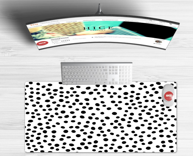 Desk Mat Extra Large XXL Desk Pad Desk Mat Cute Cute Workspace Large Mouse Pad Extended Mouse Pad Dalmatian Print Desk Mat Cute