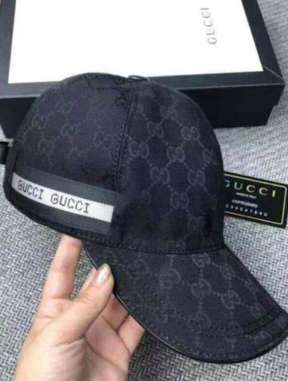 Designer Inspired baseball black cap - Adjustable