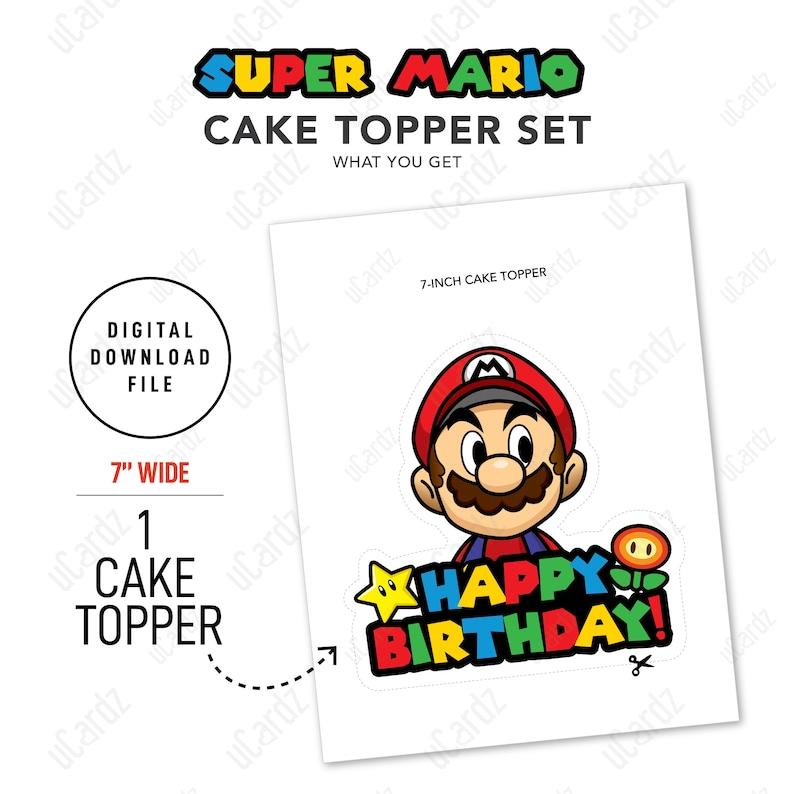 12 PCS Super Mario Cupcake Toppers Printable Super Mario Cake Topper Super Mario Birthday INSTANT Digital Download JPEG File