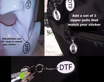 Kinky Naughty Dirty BDSM & Gender Symbol Earrings Keychain Pendant Zipper Pull - FREE Shipping in the USA!