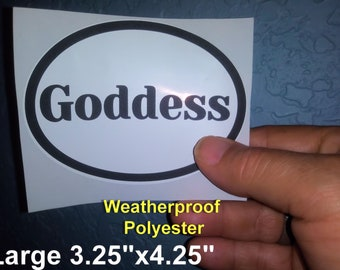 GODDESS Euro Style Oval Stickers - Weatherproof! Kinky Naughty Dirty BDSM Stickers - Free Shipping in USA