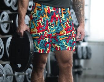 Camouflage Men's Athletic Long Shorts