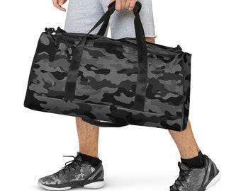 Black Camouflage Duffle bag