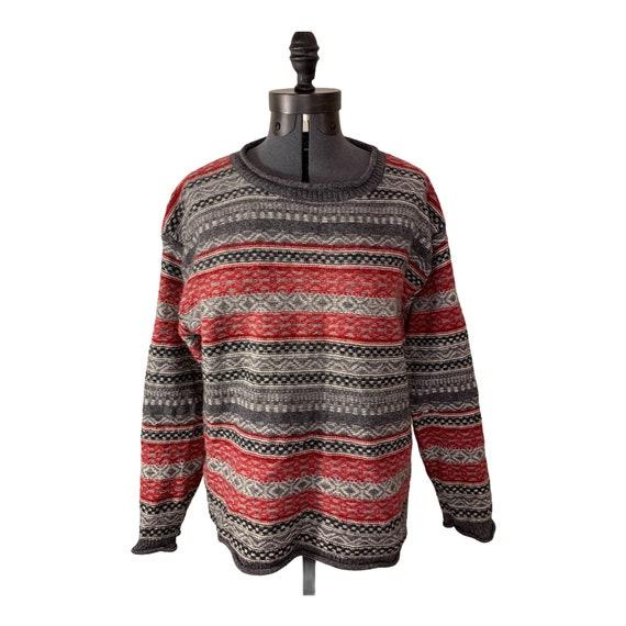 Vintage ESPRIT Fair Isle Pullover Wool Sweater