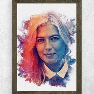 Maria Sharapova Poster No Frames 4 Wall Art Prints Home Decor Art painting