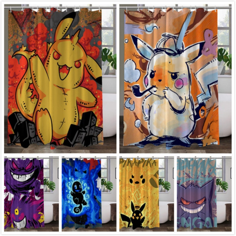 Pokémon Shower Curtains